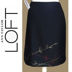 Black Pencil Skirt Sz 4 Wool Lined